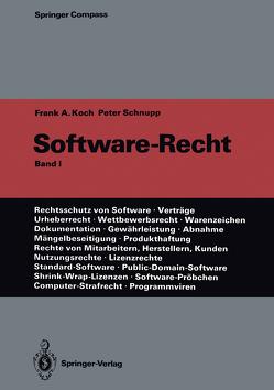 Software-Recht von Koch,  Frank A., Schnupp,  Peter