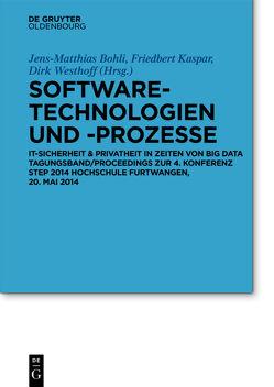 Software-Technologien und -Prozesse von Bohli,  Jens-Matthias, Kaspar,  Friedbert, Westhoff,  Dirk