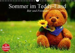 Sommer im Teddy-Land. Bär und Freunde (Wandkalender 2019 DIN A3 quer) von Stanzer,  Elisabeth