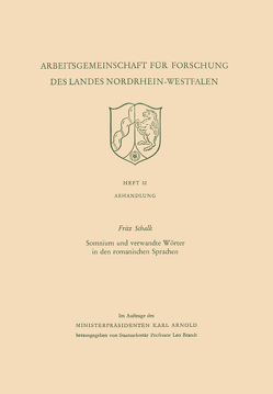 Somnium und verwandte Wörter in den romanischen Sprachen von Schalk,  Fritz