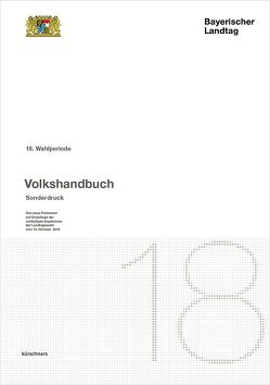 Sonderausgabe Bayerischer Landtag 18. Wahlperiode von Holzapfel,  Andreas
