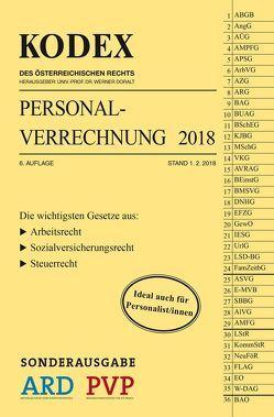 SONDERAUSGABE KODEX Personalverrechnung 2018 von Doralt,  Werner, Hofbauer,  Josef