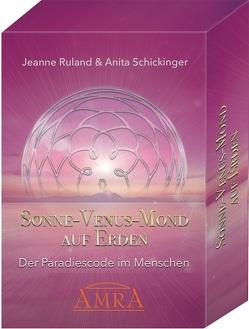 SONNE – VENUS – MOND AUF ERDEN [Kartenset mit 55 Karten & Begleitbuch] von Ruland,  Jeanne, Schickinger,  Anita