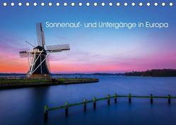 Sonnenauf- und Untergänge in Europa (Tischkalender 2019 DIN A5 quer) von Peters,  Reemt