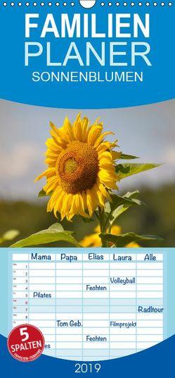Sonnenblumen 2019 – Familienplaner hoch (Wandkalender 2019 <strong>21 cm x 45 cm</strong> hoch) von Geduldig,  Bildagentur