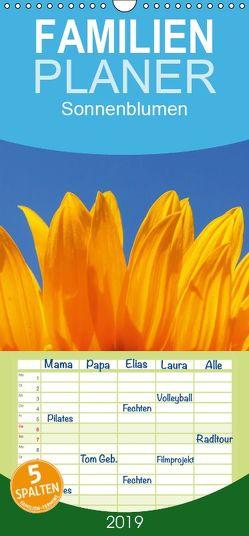 Sonnenblumen – Familienplaner hoch (Wandkalender 2019 , 21 cm x 45 cm, hoch) von Jaeger,  Thomas