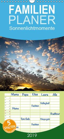 Sonnenlichtmomente – Familienplaner hoch (Wandkalender 2019 , 21 cm x 45 cm, hoch) von Cassigrafie
