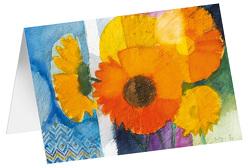 Sonnenstrauß – Kunst-Faltkarten ohne Text (5 Stück) von Felger,  Andreas