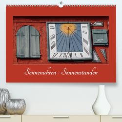 Sonnenuhren – Sonnenstunden (Premium, hochwertiger DIN A2 Wandkalender 2021, Kunstdruck in Hochglanz) von Keller,  Angelika