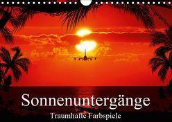 Sonnenuntergänge • Traumhafte Farbspiele (Wandkalender 2019 DIN A4 quer) von Stanzer,  Elisabeth