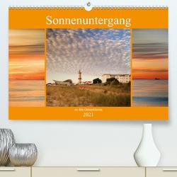 Sonnenuntergang an der Ostsee (Premium, hochwertiger DIN A2 Wandkalender 2021, Kunstdruck in Hochglanz) von Deter,  Thomas
