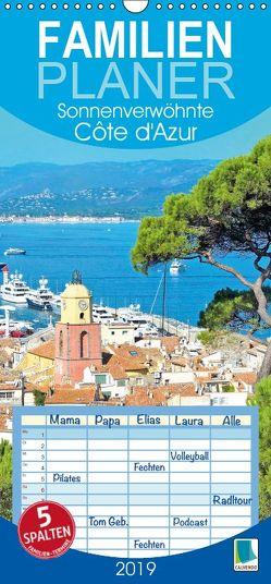 Sonnenverwöhnte Cote d'Azur – Familienplaner hoch (Wandkalender 2019 , 21 cm x 45 cm, hoch) von CALVENDO