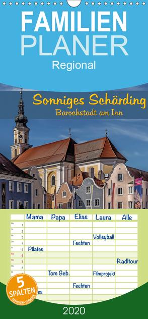 Sonniges Schärding, Barockstadt am Inn – Familienplaner hoch (Wandkalender 2020 , 21 cm x 45 cm, hoch) von Braun,  Werner