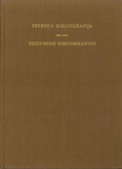 Sorbische Bibliographie 1986-1990 von Sen,  Franc