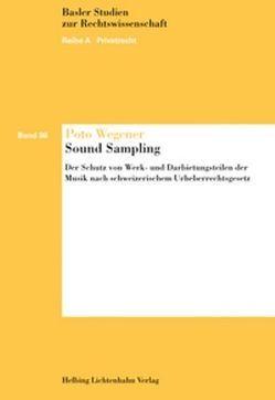 Sound Sampling (inkl. CD-ROM) von Wegener,  Poto