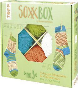 SoxxBox No. 3 – Orange/ Türkis/ Grün/ Weiß von Balke,  Kerstin