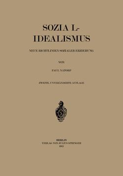 Sozial-Idealismus von Natorp,  Paul