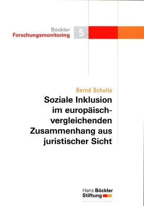 Soziale Inklusion im europäisch-vergleichenden Zusammenhang aus juristischer Sicht von Schulte,  Bernd