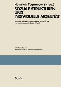 Soziale Strukturen und individuelle Mobilität von Tegtmeyer,  Heinrich