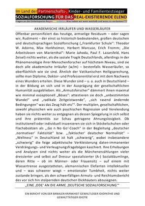 """""""SOZIALFORSCHUNG"""" FÜR DAS REAL-EXISTIERENDE ELEND – Im Land der Partnerschafts-, Kinder- und Familientestsieger von BRAEG,  BASTIAN, Gdala,  Amy, Hansch,  Helmut, Shucker,  Beat, Visser,  Lit"""