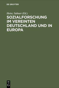 Sozialforschung im vereinten Deutschland und in Europa von Sahner,  Heinz