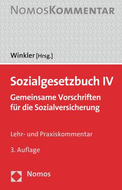 Sozialgesetzbuch IV von Winkler,  Jürgen