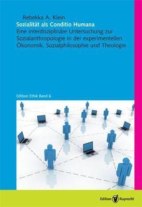 Sozialität als Conditio Humana von Klein,  Rebekka A.