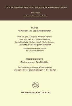 Sozialleistungen: Strukturen und Selektivitäten von Windhoff-Héritier,  Adrienne