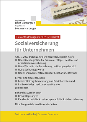 Sozialversicherung für Unternehmen von Marburger,  Dietmar