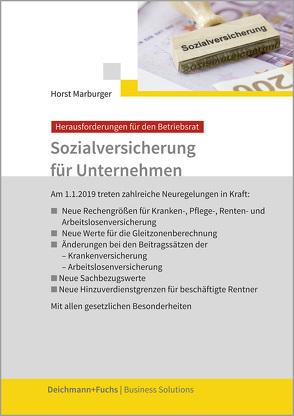 Sozialversicherung für Unternehmen von Marburger,  Horst