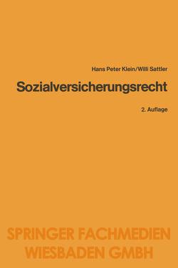 Sozialversicherungsrecht von Klein,  Heinz-Peter, Sattler,  Willi