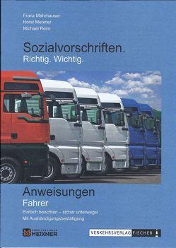 Sozialvorschriften Richtig Wichtig von Franz,  Mahrhauser, Horst,  Meixner, Michael,  Reim