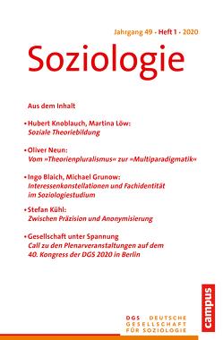 SOZIO 01/2020 von Farzin,  Sina, Lange,  Karin, Nissen,  Sylke