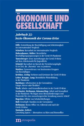Sozio-Ökonomik der Corona-Krise von Bellmann,  Lutz, Mariaske,  Wenzel