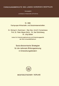Sozio-ökonomische Strategien für die nationale Bildungsplanung in Entwicklungsländern von Buchmann,  MichaelA.