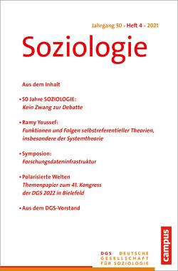 Soziologie 4/2021 von Farzin,  Sina, Nissen,  Sylke