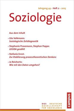Soziologie 2.2015 von Vobruba,  Georg