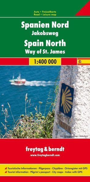 Spanien – Jakobsweg, Autokarte 1:400.000