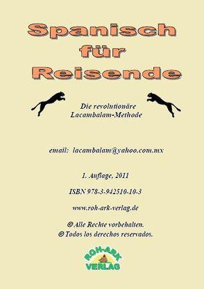 Spanisch für Reisende von Rohark,  Jens