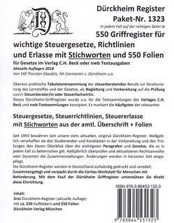 Sparpaket: Dürckheim-Register 550 Griffregister mit Stichworten + 550 Folien