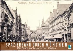 Spaziergang durch München – Die Stadt auf historischen Karten (Wandkalender 2021 DIN A2 quer) von CALVENDO