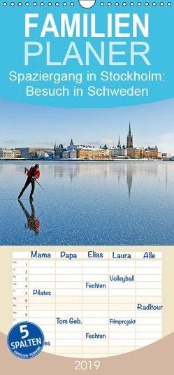Spaziergang in Stockholm: Besuch in Schweden – Familienplaner hoch (Wandkalender 2019 <strong>21 cm x 45 cm</strong> hoch) von CALVENDO