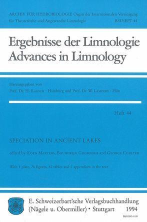 Speciation in ancient Lakes von Cutler,  George, Goddeeris,  Boudewijn, Marten,  Koen