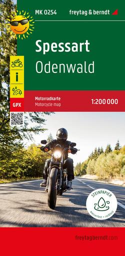 Spessart – Odenwald, Motorradkarte 1:200.000, freytag & berndt