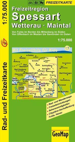 Spessart, Wetterau, Maintal Rad- und Freizeitkarte
