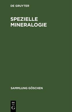 Spezielle Mineralogie von Brauns,  Reinhard, Chudoba,  Karl F.