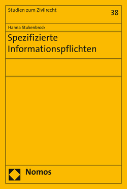Spezifizierte Informationspflichten von Stukenbrock,  Hanna