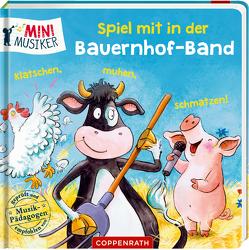 Spiel mit in der Bauernhof-Band: Klatschen, muhen, schmatzen! von Grimm,  Sandra, Völker,  Kerstin