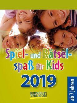 Spiel- und Rätselspaß für Kids 2019 von Korsch Verlag