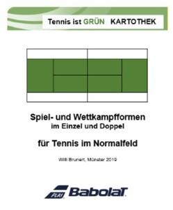 """Spiel- und Wettkampfformen im Einzel und Doppel für Tennis im Normalfeld – Training """"To-Go"""" von Brunert,  Willi"""